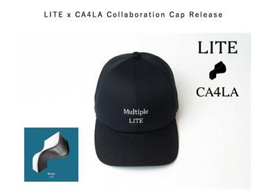 LITE×CA4LA コラボキャップの発売が決定しました。