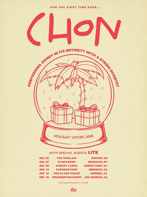 12月にCHONのUSツアーへ出演が決定しました。